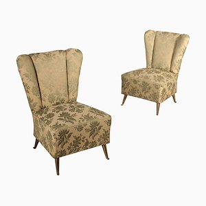 Vintage Italian Armchairs, 1950s, Set of 2