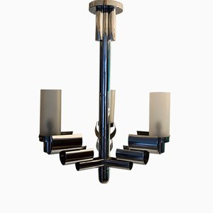 Modernist Chrome Chandelier, 1930s