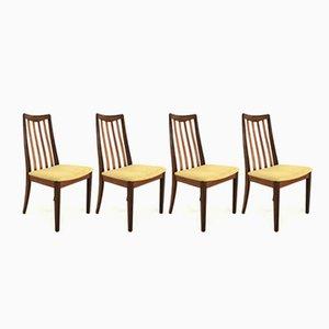 Vintage Esszimmerstühle aus Teak von G-Plan, 1970er, 4er Set