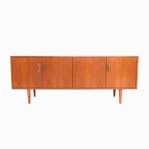 Vintage Teak Sideboard on Turned Wooden Legs by Victor Wilkins, 1970s
