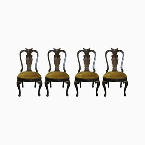 Antique Chippendale Style Chairs, 1800s, Set of 4