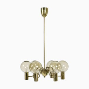 Brass Chandelier by Hans-Agne Jakobsson for Markaryd, 1960s