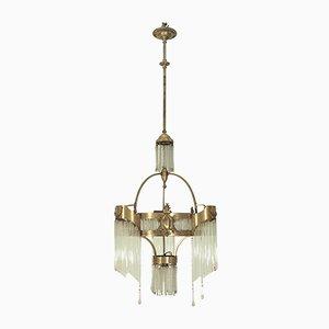 Lámpara de araña Secesión antigua grande