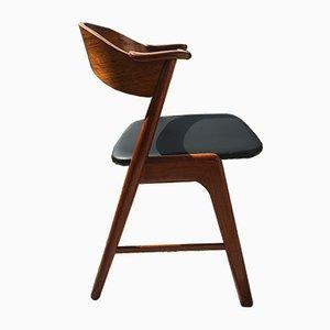 Teak Model 32 Dining Chairs by Kai Kristiansen for Korup Stolefabrik, 1960s, Set of 4