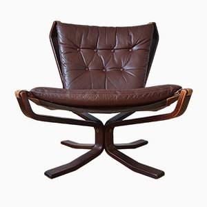 Mid-Century Low-Back Danish Falcon Chair by Sigurd Ressell, 1970s