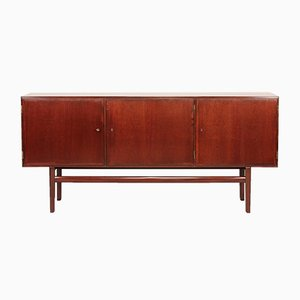 Low Mahogany Rungstedlund Sideboard by Ole Wanscher for Poul Jeppesens Møbelfabrik, 1970s
