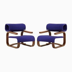 Moderne Sessel mit Gestell aus Palisander von Jan Bocan für Thonet, 1972, 2er Set