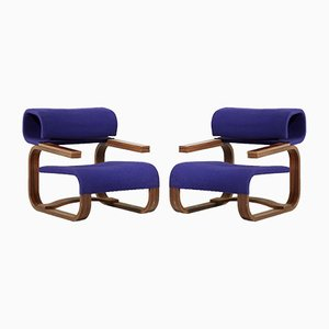 Modernist Rosewood Lounge Chairs by Jan Bocan for Thonet, 1972, Set of 2