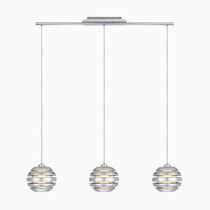 Brushed Aluminum 3-Light Pendant from Eglo, 2009