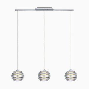 Lámpara colgante de aluminio cepillado con tres luces de Eglo, 2009
