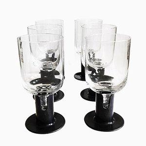 Bicchieri Kaveri di Jorma Vennola per Iittala, anni '80, set di 6