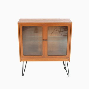 Small Vintage Teak Display Cabinet/Bookcase on Hairpin Legs from G-Plan, 1970s