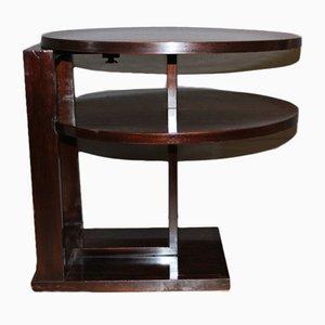 Tavolo Art Deco in palissandro su piedistallo, anni '30