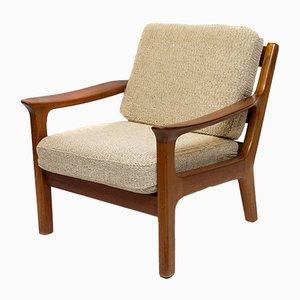 Dänischer Sessel mit Gestell aus Teak von Juul Kristensen, 1970er