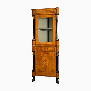Antique Biedermeier Corner Cabinet