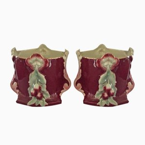 Art Nouveau Style Belgian Flower Pots, 1920s, Set of 2