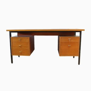 Vintage Mahogany and Steel Desk, 1960s
