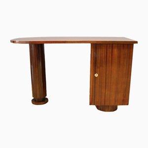 Vintage Art Deco Mahogany Desk, 1930s