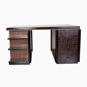 Art Deco Macassar Ebony Desk, 1930s