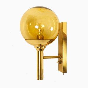 Vintage Brass Wall Lamp by Svend Mejlstrøm for Mejlstrøm Belysning, 1960s