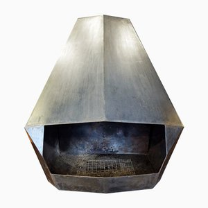 Vintage Metal Fireplace