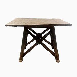 Industrieller Vintage Fabriktisch aus Metall