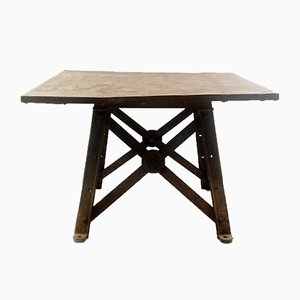 Vintage Industrial Metal Factory Table