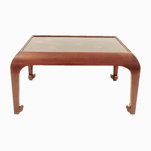 Mesa de centro vintage de madera pintada