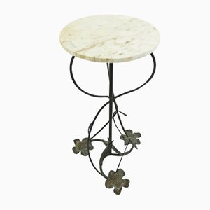 Vintage Wrought Iron Pedestal Table