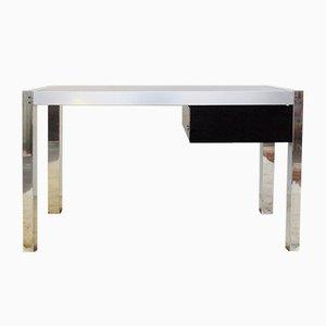Vintage Schreibtisch aus Chrom & Rauchglas, 1970er