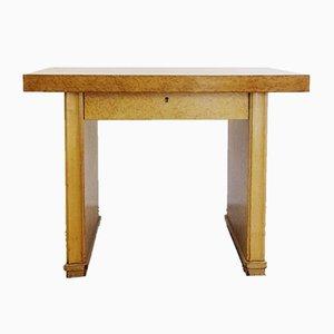 Vintage Brutalist Belgian Wooden Desk from De Coene