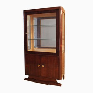 Vintage Art Deco Rosewood Showcase, 1930s