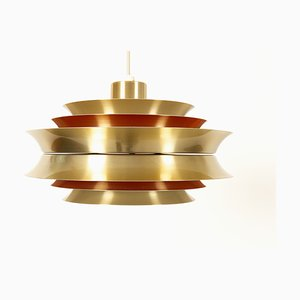 Vintage Model Trava Ceiling Pendant by Carl Thore and Sigurd Lindkvist for Granhaga Metallindustri, 1960s