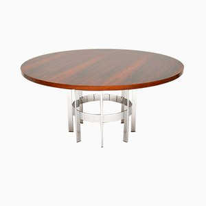 Vintage Rosewood & Chrome Dining Table by Richard Young for Merrow Associates, 1960s