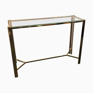 Mid-Century Modern Italian Gilded Metal Console, 1960s