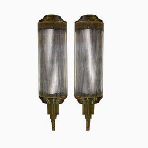 Große Art Déco Wandlampen, 1920er, 2er Set