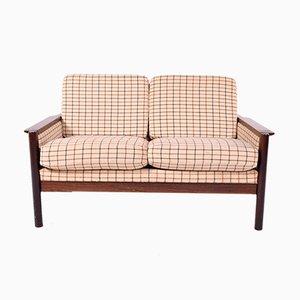 Sofá de dos plazas danés de palisandro, años 50