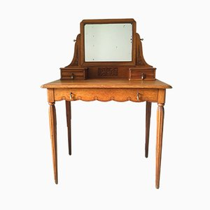 Vintage Oak Dressing Table, 1920s