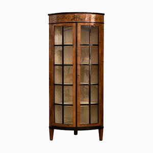 Antique Empire Corner Cabinet