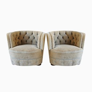 Art Deco Style Danish Lounge Chairs, 1940s, Set of 2