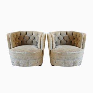 Art Deco Style Danish Lounge Chairs, 1940s, Set of 2