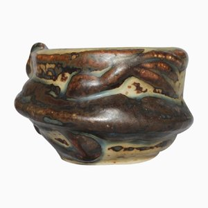 Cuenco vintage de cerámica de Axel Salto para Royal Copenhagen, años 40