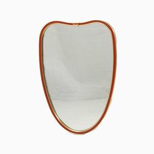Specchio Mid-Century a forma di cuore, anni '60