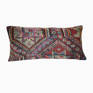 Turkish Embroidered Lumbar Kilim Pillow from Vintage Pillow Store Contemporary