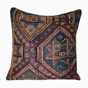 Turkish Geometrical Jajim Pillow Cover from Vintage Pillow Store Contemporary