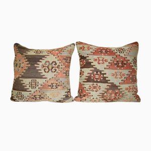 Handwoven Turkish Wool Kilim Pillow Covers from Vintage Pillow Cover Contemporary, Set of 2