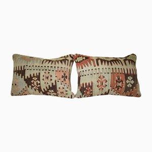 Fundas de almohada hechas con kilim geométrico de Vintage Pillow Store Contemporary. Juego de 2