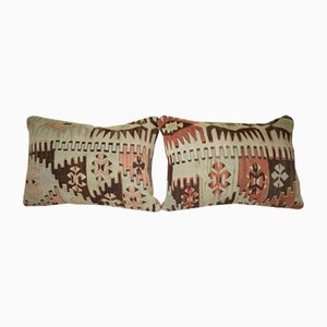 Geometrical Kilim Pillow Covers from Vintage Pillow Store Contemporary, Set of 2
