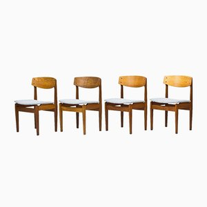 Model 78 Oak Dining Chairs by Jørgen Baekmark for FDB, 1950s, Set of 4