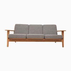Dänisches GE290/3 Sofa mit Gestell aus Eiche von Hans J. Wegner für Getama, 1960er